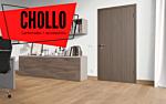 Diseño roble marrón claro 4v en vista de habitación