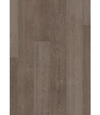 Parquet laminado de roble cambridge oscuro de la marca quick-step de la serie largo en un ambiente de habitación.
