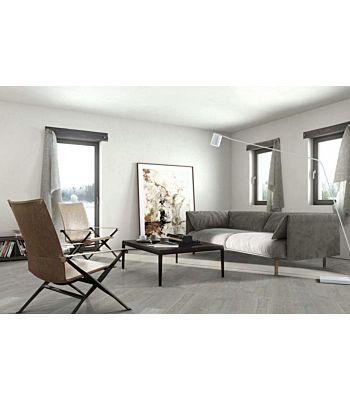 Parquet flotante de la marca Barlinek de la serie pure line Roble raisins en un ambiente de habitación.