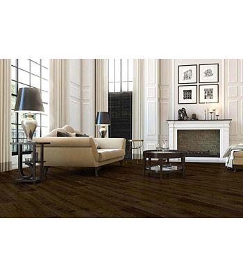 Parquet flotante de la marca Barlinek de la serie pure vintage Roble porto en un ambiente de habitación.