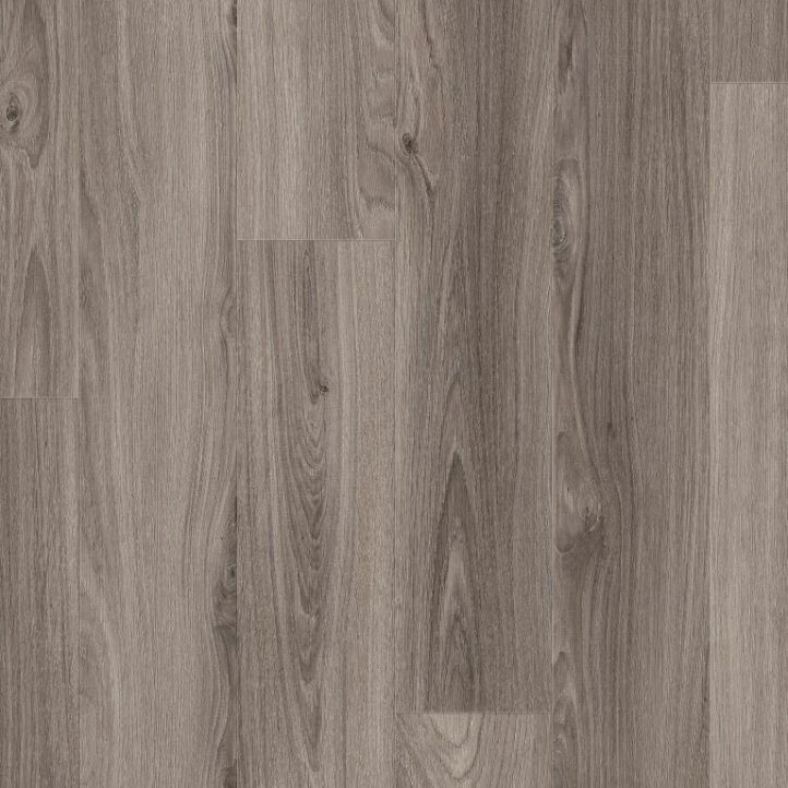 Suelo laminado de roble gris oscuro de la marca Disfloor en vista diseño.
