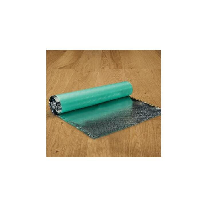 Subsuelo de la marca Pergo para suelos laminados y madera de 2mm de grosor con capa de aluminio