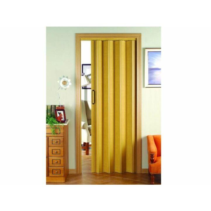 puerta plegable de pvc disdoor en color  crema