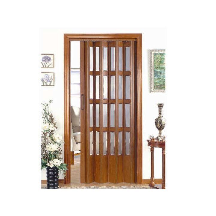 puerta plegable de pvc acristalada disdoor
