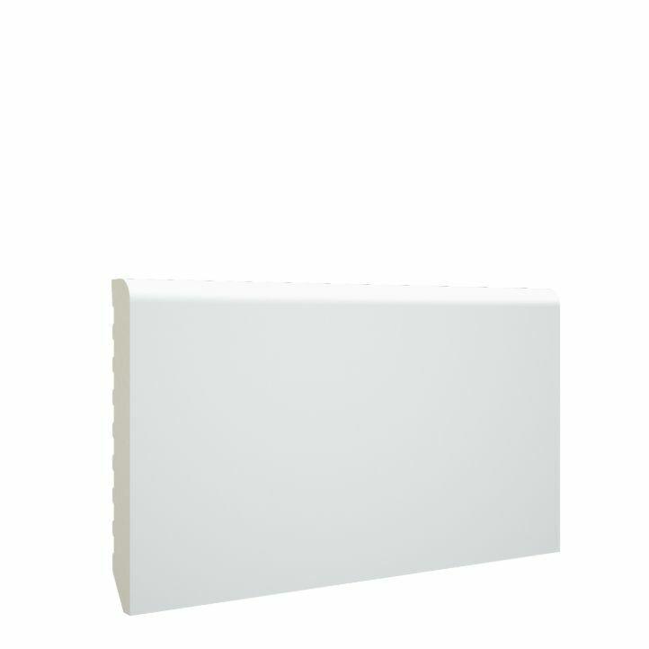 Color detallado mejorado del rodapie de pvc lacado blanco de 70x10