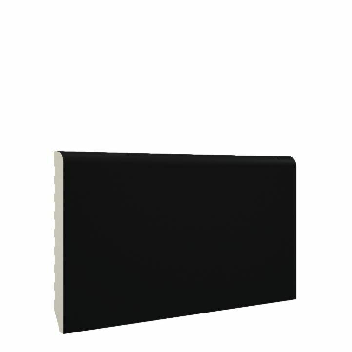 rodapié pvc negro de 7cm de altura de mundoparquet resistente al agua