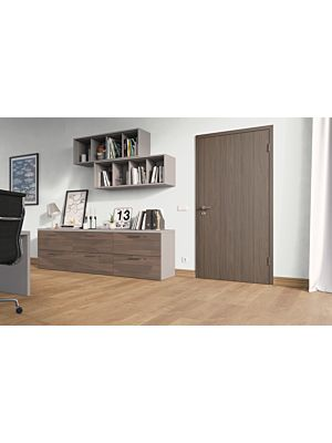 Diseño roble marrón 4v en vista de habitación