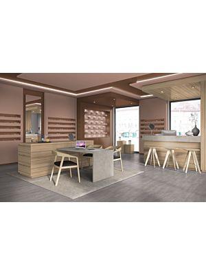 Parquet laminado CHALK CERAMINC EHL002 - 4+1V de Egger Home de la serie Kingsize  en un ambiente de sala.