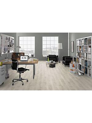 suelo laminado roble brook blanco de egger home EHL101 en un ambiente de despacho.