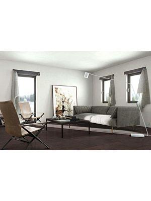 Parquet flotante de la marca Barlinek de la serie tastes of life Roble balsamico en un ambiente de habitación.