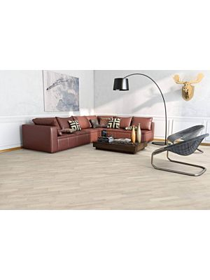Parquet flotante de la marca Barlinek de la serie tastes of life Roble Cardamomo en un ambiente de habitación