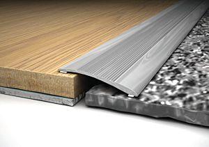 Perfil transición aluminio Inox Bdecora entre 0-6mm