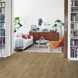 parquet vinílico de la marca Pergo roble rio gris V2131-40084 de la serie premium en un ambiente de habitación.