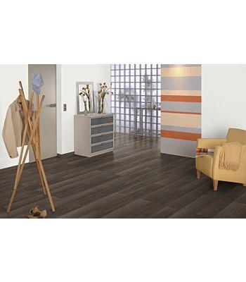 Parquet laminado roble Palencia Claro de Egger Home en un ambiente de habitación. Código EHL079.