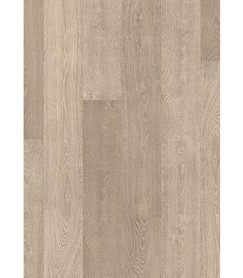 Parquet laminado de roble dominicano natural de la marca quick-step de la serie largo en un ambiente de habitación.