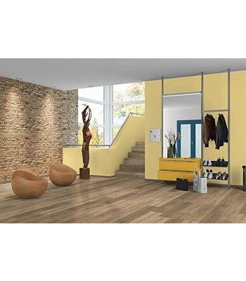 Parquet laminado de Roble Parquet MF4569 de Egger Megafloor de la serie M2 en un ambiente de habitación.