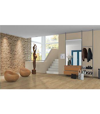 Parquet laminado de Roble Matera MF4670 de Egger Megafloor de la serie M2 Largo en un ambiente de habitación.