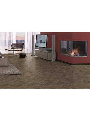 Parquet laminado  ROBLE WEINGBURG CLARO EHL065 de Egger Home de la serie Kingsize  en un ambiente de pasillo.