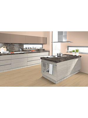 Parquet laminado ROBLE LILLIAN NATURAL EHL097 - 4+1v de Egger Home de la serie Kingsize  en un ambiente de cocina.