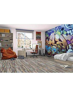 Suelo laminado de Century Wood MF4613 de Egger Megafloor de la serie M1 en un ambiente de habitación.