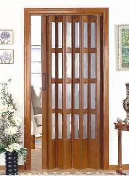 puerta plegable acristalada de pvc