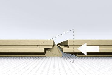 Método de instalación por colocación horizontal de parquet suelos laminados.