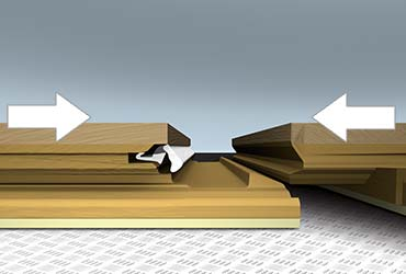 Método de instalación por colocación horizontal de parquet tarima flotante.