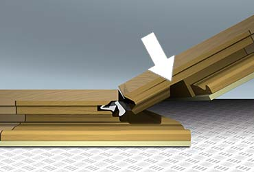 Método de instalación por deslizamiento y clic de parquet tarima flotante.
