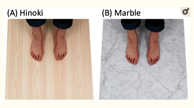 Comparativa entre tocar suelo de madera y mármol